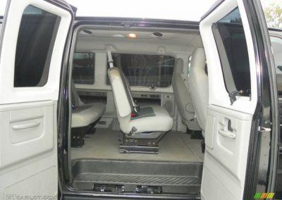 Ford E350 interior